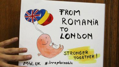 "Photo of Pancarte ""Made in Romania"" la Marșul pentru viață de la Londra"