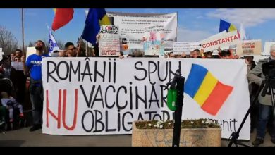 Photo of VIDEO. Protest împotriva vaccinării obligatorii la București