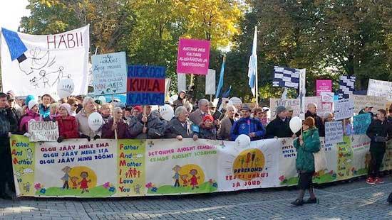 Photo of Marș pentru familie la Tallin, în Estonia