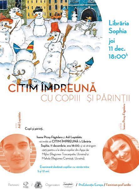 """Photo of Eveniment: """"Citim împreună cu copiii și părinții"""" – Joi, 11 decembrie, Librăria Sophia"""