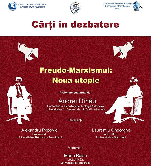 """Photo of Conferința """"Freudo-Marxismul: Noua utopie"""""""