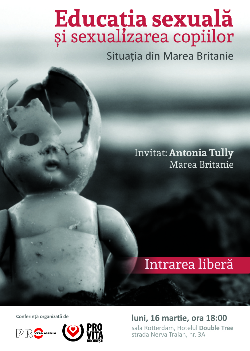 """Photo of INVITAȚIE: Conferința """"Educația sexuală și sexualizarea copiilor. Situația din Marea Britanie"""""""