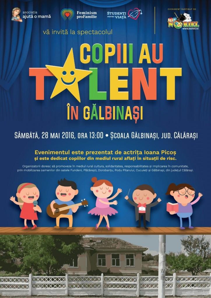 Photo of Copiii au talent în Gălbinași – spectacol cu și pentru copii
