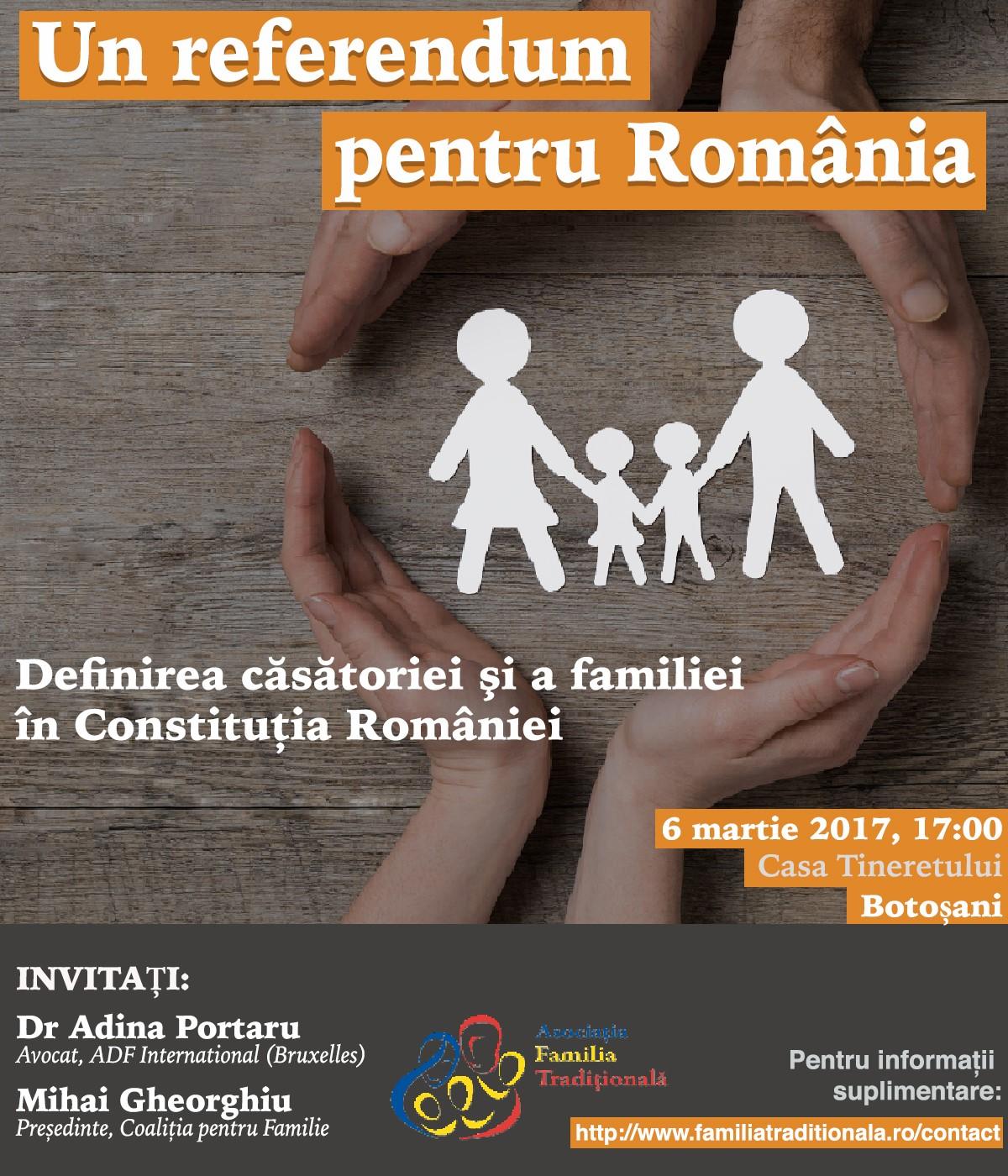 """Photo of Serie de conferințe: """"Definirea căsătoriei și a familiei în Constituția Românei"""", Botoșani și Iași"""