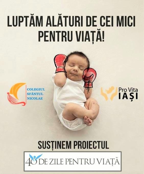 """Photo of IAȘI: Cele mai frumoase imagini de promovare a campaniei """"40 de zile pentru viață"""""""