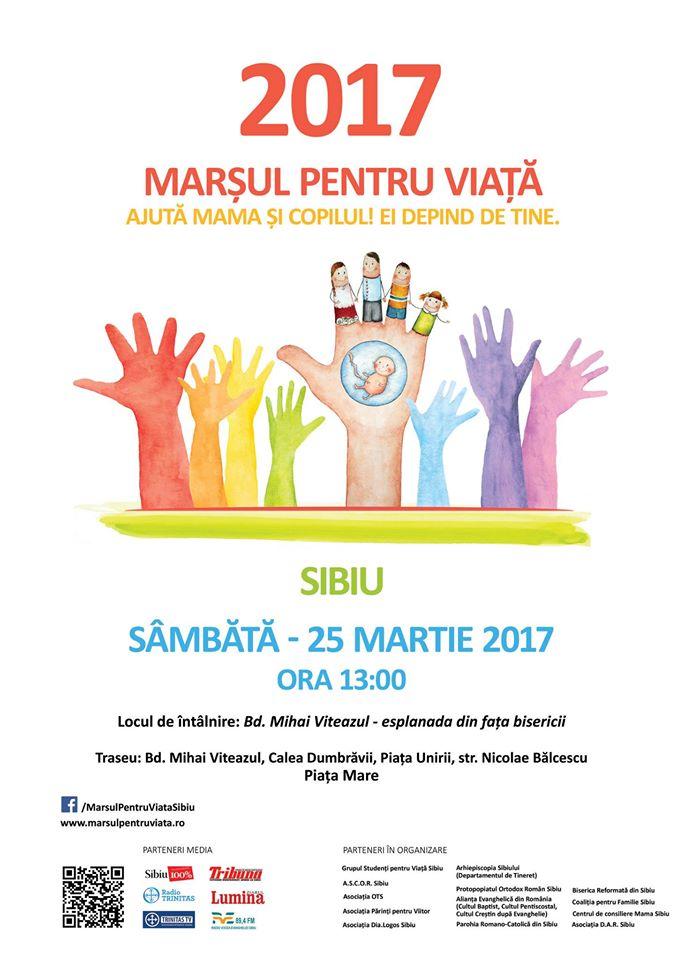 Photo of VIDEO și program: Marșul pentru Viață 2017 la Sibiu