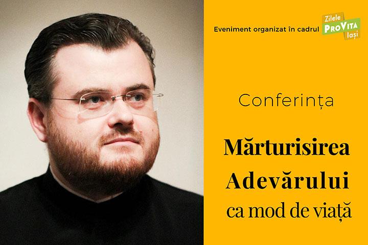 """Photo of VIDEO update. Zilele Pro Vita Iași. Conferința """"Mărturisirea Adevărului ca mod de viață"""" a diaconului Ionuț Mavrichi, consilier patriarhal"""