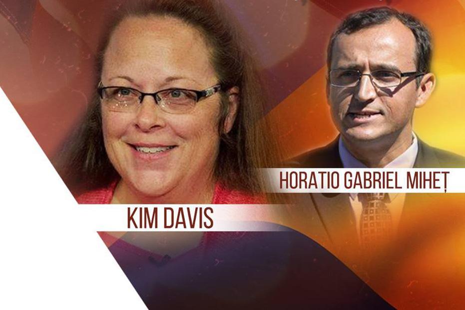 """Photo of VIDEO și transcriere. Kim Davis, funcționar public arestat în SUA pentru că nu a vrut să oficieze """"căsătorii"""" homosexuale: """"Vreau să le dau românilor speranța că pot rămâne puternici, că pot să susțină ceva fără să fie împotriva unui grup de oameni"""""""