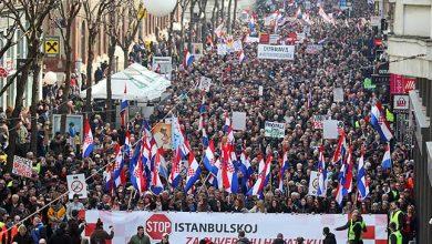Photo of FOTO. Zeci de mii de croați au manifestat la Zagreb împotriva Convenției de la Istanbul