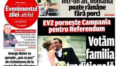 """Photo of Cotidianul """"Evenimentul zilei"""" susține referendumul printr-o campanie de presă"""