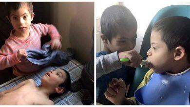 Photo of Are sindromul Down, dar este un sprijin real pentru familia lui adoptivă