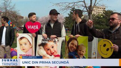 Photo of VIDEO-reportaj Trinitas TV de la Marșul pentru viață 2019 din București