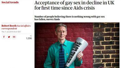 Photo of Studiu: Scade acceptarea britanicilor pentru relațiile homosexuale