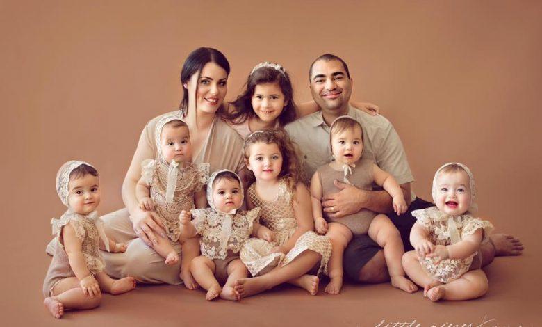 Photo of Viața cu cvintupleți: Cei cinci născuți dintr-o dată s-au adăugat celorlalți trei copii ai familiei