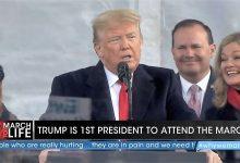 """Photo of Donald Trump la Marșul pentru viață: """"Când vedem imaginea unui copil în pântece, surprindem măreția Creației lui Dumnezeu"""""""