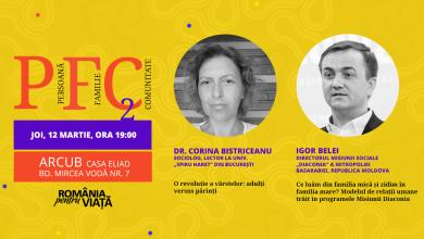 """Photo of 12 martie: România pentru viață organizează evenimentul """"PFC. Persoană. Familie. Comunitate"""""""