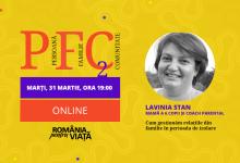 """Photo of Conferințele PFC se mută online! Lavinia Stan, mamă a 6 copii și coach parental: """"Cum gestionăm relațiile de familie în perioada de izolare?"""" – 31 martie, ora 19"""