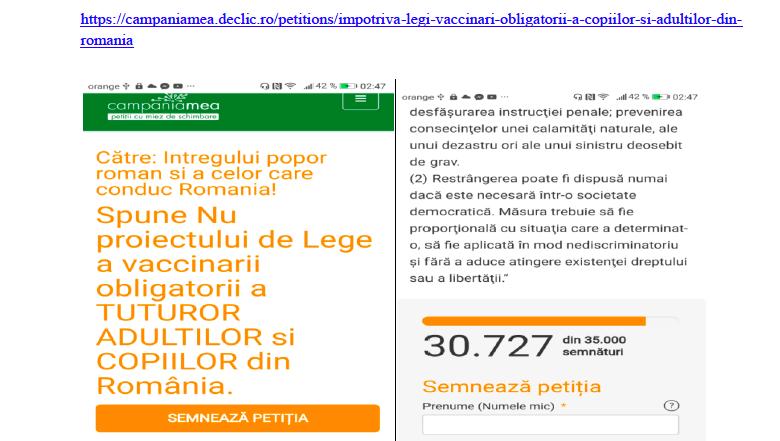 Photo of Declic.ro a șters o petiție împotriva obligativității vaccinării semnată de 31.000 de români