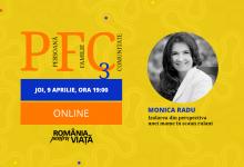 """Photo of PFC online. Monica Radu: """"Izolarea din perspectiva unei mame în scaun rulant"""" – 9 aprilie"""