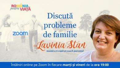 """Photo of """"Discută online probleme de familie cu Lavinia Stan"""", în fiecare marți și vineri de la 19"""
