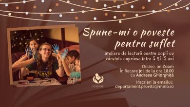 """Photo of """"Spune-mi o poveste pentru suflet"""" la Pro Vita Iași: Sesiuni online de lectură cu copiii"""